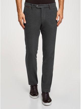 Kalhoty zúžené ze silné látky  OODJI