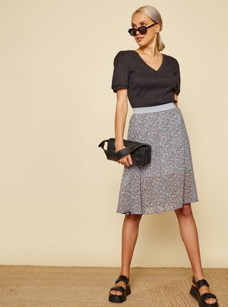 Svetlomodrá kvetovaná sukňa ZOOT Sisi
