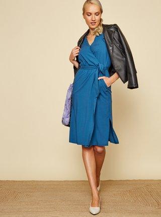 Modré zavinovacie šaty ZOOT Francine