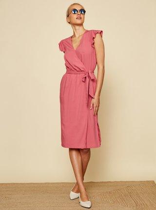 Růžové zavinovací šaty ZOOT Francine