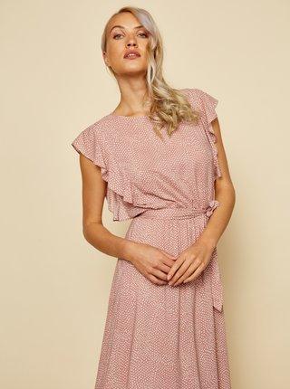 Ružové vzorované šaty so zaväzovaním ZOOT Felicita