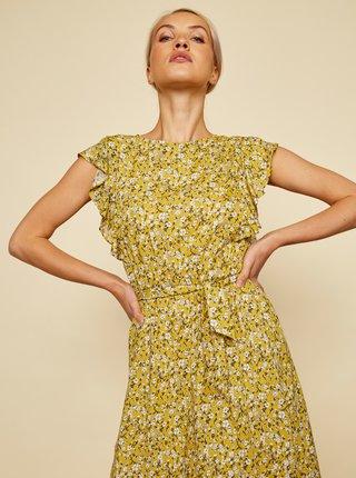 Žlté kvetované šaty so zaväzovaním ZOOT Felicita