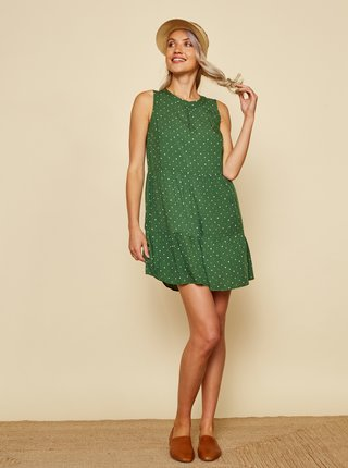 Zelené puntíkované šaty ZOOT Mira
