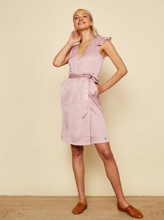 Růžové zavinovací šaty ZOOT Zuzana