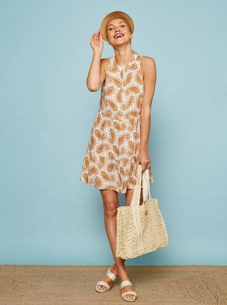Hnědo-krémové vzorované šaty ZOOT Savannah