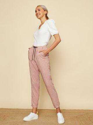 Starorůžové dámské puntíkované kalhoty ZOOT Rani