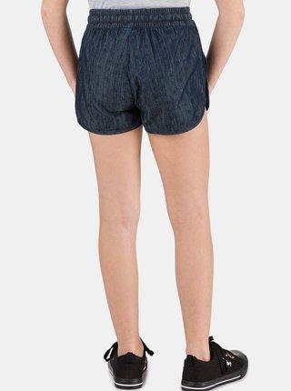 Tmavě modré holčičí vzorované džínové kraťasy SAM 73