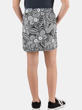 Tmavě šedá holčičí květovaná sukně SAM 73