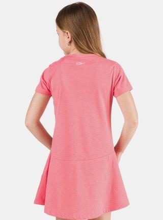 Růžové holčičí šaty s potiskem SAM 73