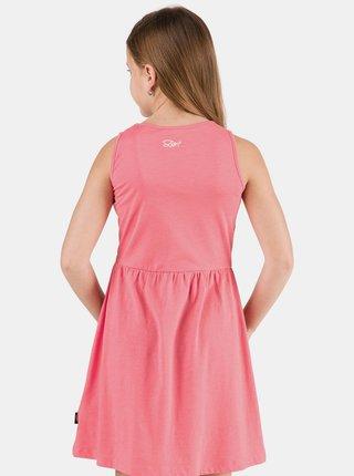 Růžové holčičí květované šaty SAM 73