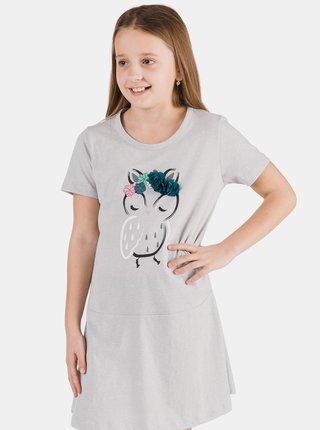 Světle šedé holčičí šaty s potiskem SAM 73