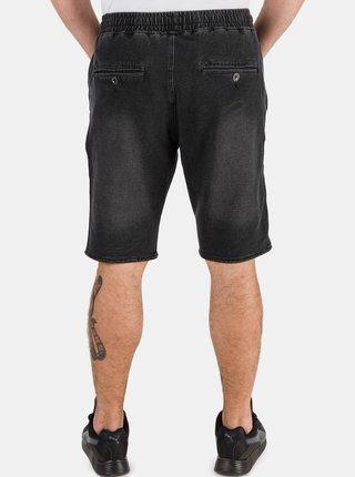 Tmavě šedé pánské džínové kraťasy SAM 73