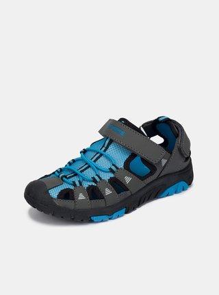 Šedo-modré chlapčenské sandále SAM 73