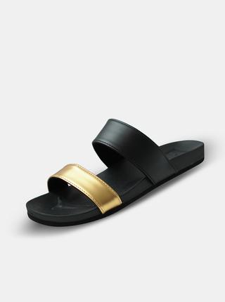 Dámské pantofle ve zlato-černé barvě SAM 73