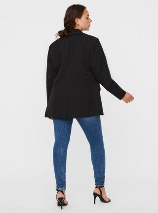 Černé tričko s potiskem VERO MODA CURVE Elra