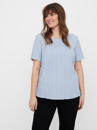 Světle modré tričko VERO MODA CURVE Grunt