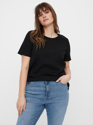 Černé tričko VERO MODA CURVE Grunt