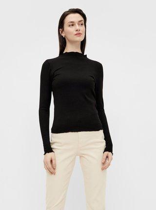 Čierne tričko Pieces Tulle