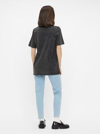 Černé tričko s potiskem Pieces