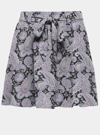 Černo-fialová vzorovaná sukně ONLY Jasmin