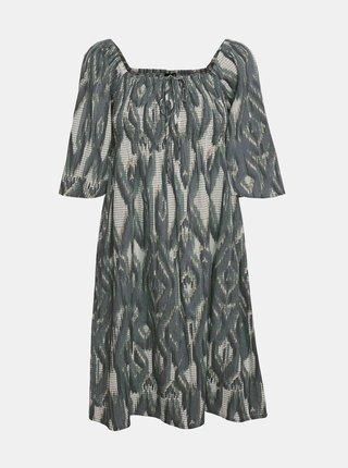 Krémovo-zelené vzorované šaty VERO MODA Annabelle