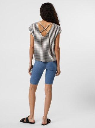 Krémovo-modré pruhované tričko VERO MODA Alona