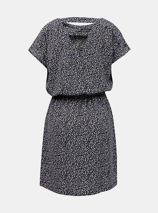 Čierne kvetované šaty so zaväzovaním ONLY Mariana