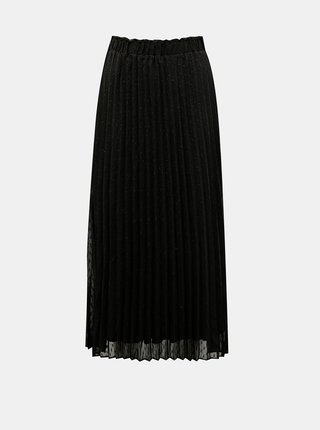 Černá vzorovaná plisovaná midi sukně ONLY Dora