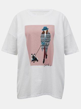 Biele tričko s potlačou Noisy May Ida