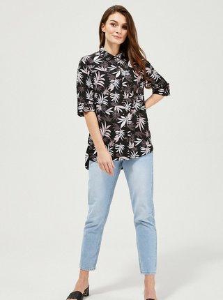 Černá dámská vzorovaná volná košile Moodo