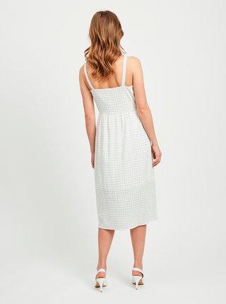 Biele kockované šaty VILA Kastanja