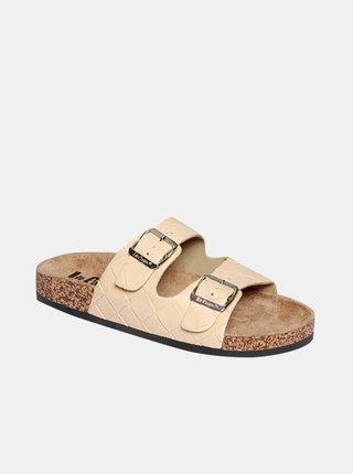 Béžové dámské pantofle Lee Cooper