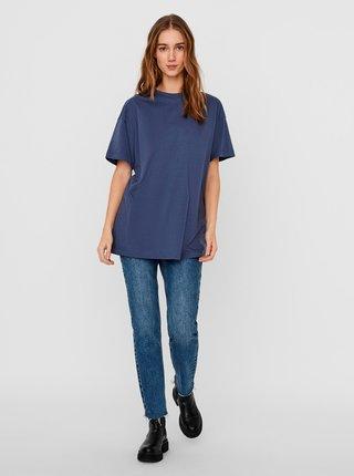 Tmavě modré volné basic tričko AWARE by VERO MODA Obenta