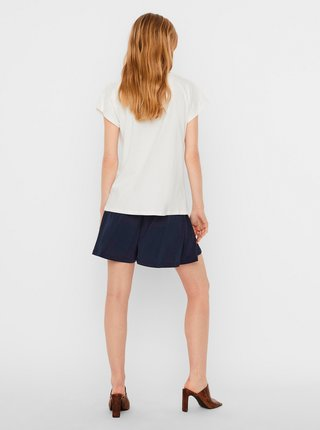 Tričká s krátkym rukávom pre ženy AWARE by VERO MODA - biela