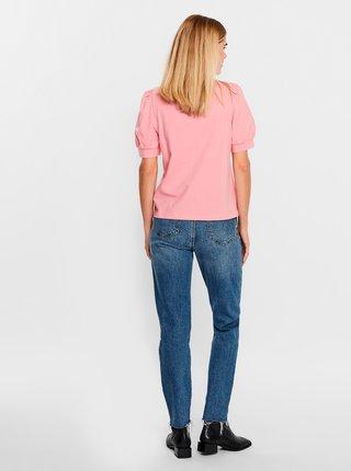 Růžové tričko AWARE by VERO MODA Kerry