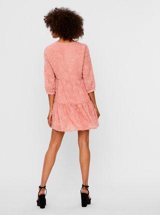 Růžové šaty AWARE by VERO MODA Laura