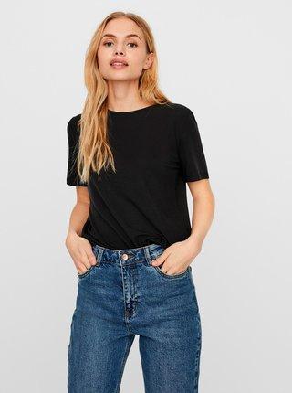Čierne tričko AWARE by VERO MODA Ava