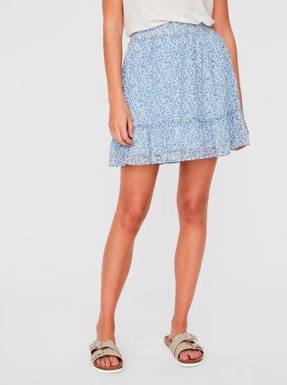 Modrá vzorovaná sukňa AWARE by VERO MODA Lucia
