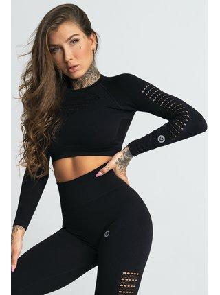 Crop-Top Gym Glamour Nero Black