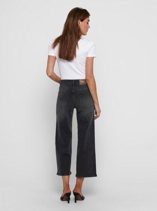 Černé široké džíny ONLY-Madison