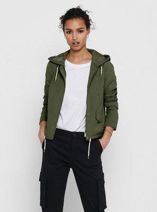 Zelená lehká bunda s kapucí ONLY Skylar