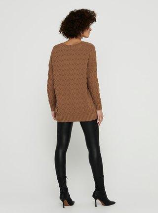 Hnědý svetr ONLY-Bina