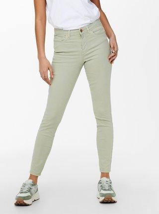 Světle zelené skinny fit džíny ONLY Wauw