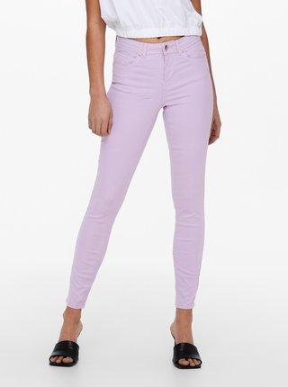 Světle fialové skinny fit džíny ONLY Wauw