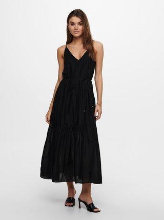 Letné a plážové šaty pre ženy ONLY - čierna