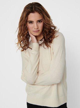 Krémový sveter ONLY Lesly