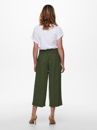 Khaki culottes se zavazováním ONLY Aminta