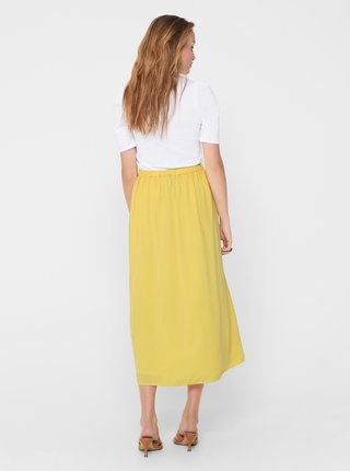 Žltá midi sukňa ONLY Sue