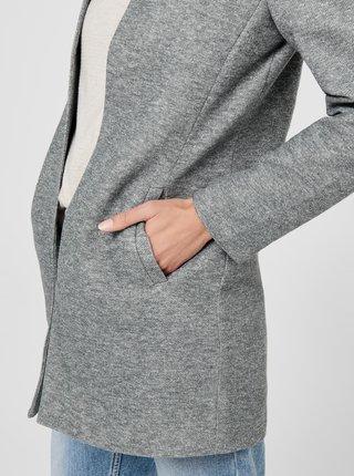 Šedý žíhaný lehký kabát  Only Soho