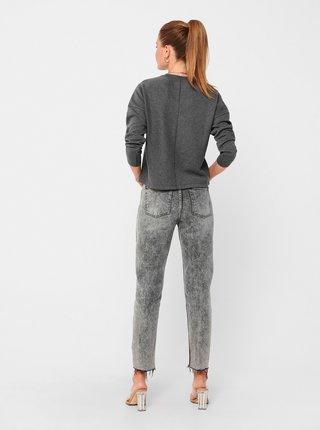 Tmavě šedé tričko Jacqueline de Yong Gigi